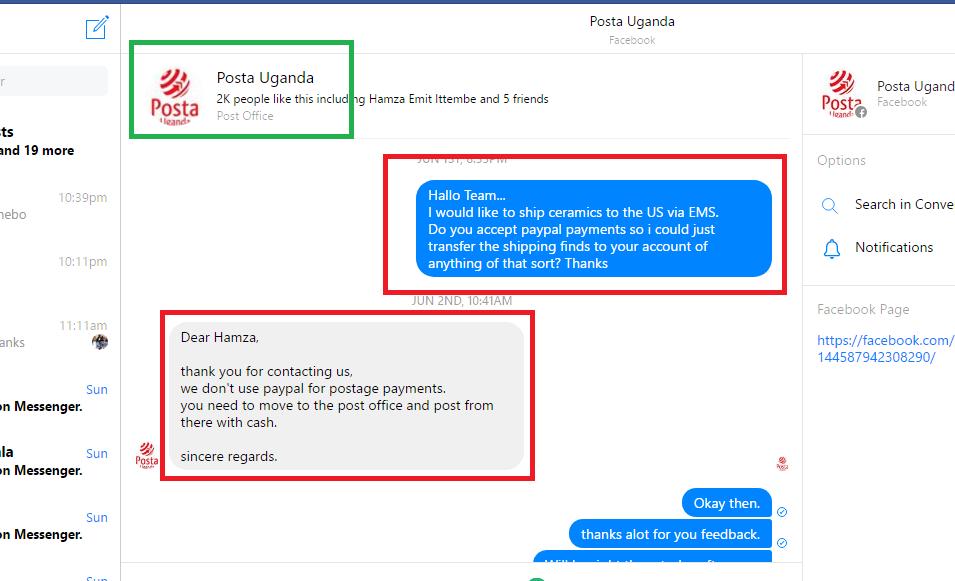 Posta Uganda Note