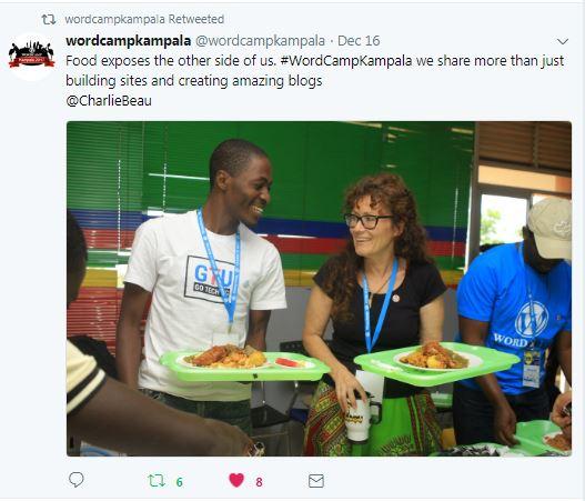 gotechug foodie moment. Image: @wordcamp kampala