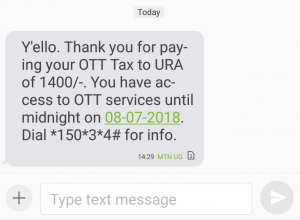 Paying Social Media Tax Fee (OTT) Step 5