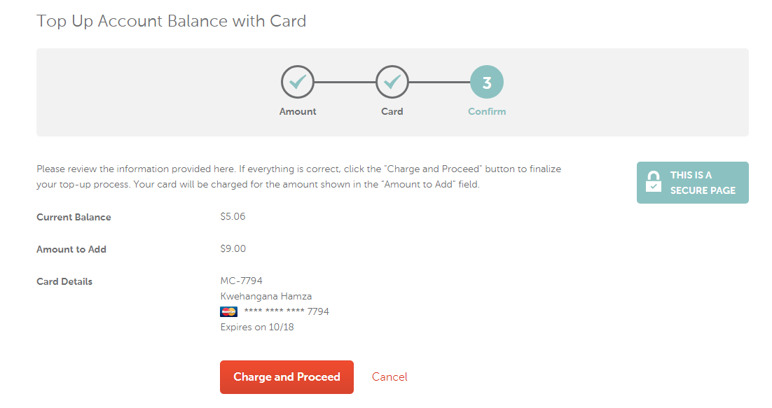 paying with momocard