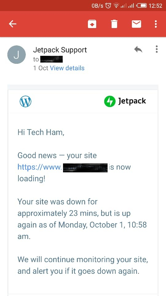 Jetpack site monitor