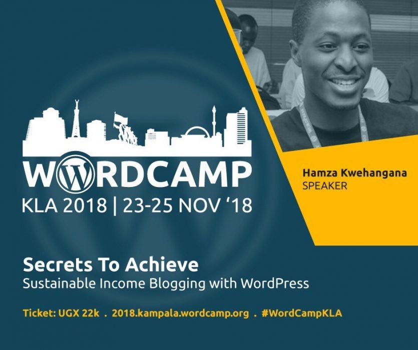Kwehangana Hamza - Speaker, WordCamp Kampala 2018