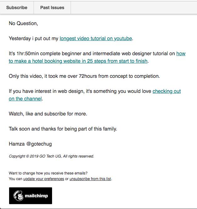 GoTechUG Email Newsletter